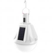 Lampada Solar Emergencia Led Carrega celular Lanterna luz USB Camping