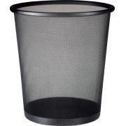 Lixeira de Aço Telada Redonda de Lixo Preta Escritorio Kit 10un.