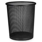 Lixeira Telada Redonda de Aço para Escritorio Cesto de Lixo Preta (bsl-34008-1)