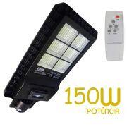 Luminaria 150W Solar Refletor LED Placa Fotovoltaica Poste Luz Sensor Resiste Agua