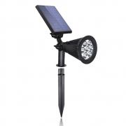 Luminária Espeto Solar 10w 7leds Jardins Areas Externas Refletor
