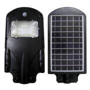 Luminaria Refletor Energia Solar Placa LED 30W Poste Resistente Agua Sensor