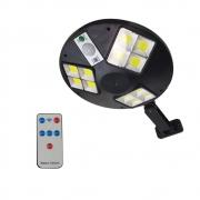 Luminaria Solar Controle Remoto Sem Frio Sensor de Proximidade 12 leds branco frio jardim