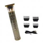 Maquina de Cortar Cabelo Barba Aparador de Pelos Acabamento Profissional Sem Fio USB