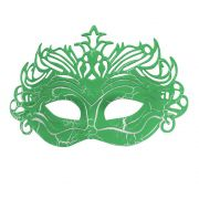 Mascara Fantasia Carnaval kit 6 uni Verde Festa Evento Baile