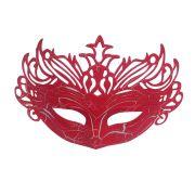 Mascara Fantasia Carnaval kit 6 uni Vermelho Festa Evento Halloween Baile