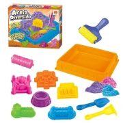 Massinha Areia de Modelar Divertida 900g Castelo 6 Formas 5 Acessorios Diversos Brinquedo (DMT5121)