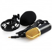 Microfone Condensador Profissional Unidirecional Gravaçao Youtuber Estudio Audio Live Musica Podcast Home Studio