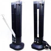 Mini Torre Ventilador Abajur Vertical usb mesa computador luminaria Preto