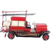 Miniatura Caminhao Bombeiro Vintage Retro 45cm Vermelho (CJ-013)