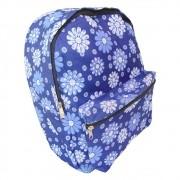 Mochila Feminina Casual Escolar Infantil Estampa Flor Azul (JA90512)