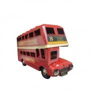Onibus De Londres Em Metal Vermelho Para Enfeite Retro Vintage (CJ-007)
