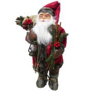 Papai Noel de Luxo Natal Boneco Natalino 65cm Decoracao Lampiao