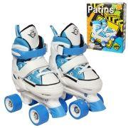 Patins 4 Rodas Tenis Ajustavel Roller All Style Classico 37 ao 40 Azul (DMR5165)