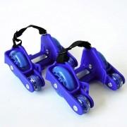 Patins Adaptado Para Tenis Com 4 Rodas De Led Azul