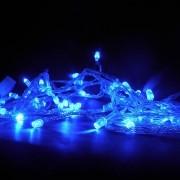 Pisca Pisca de Natal 9,5m Enfeite 100 Led Natalino 8 Funções Azul (JA80502)