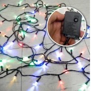 Pisca Pisca de Natal Led 100 Lampadas Coloridas Natalino 8 Funcoes ( JA80503)