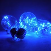Pisca Pisca Led Natal Lampada Azul 3 metros Usb Pilha Fotogradia