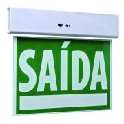 Placa de Sinalizaçao Emergencia Saida LED Bateria Recarregavel Lampada Luz Iluminaçao Empresa Casa