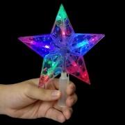 Ponteira Pisca Pisca Estrela 10 Leds Colorida Enfeite Natalino Arvore de Natal