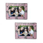 Porta Retrato Mini Moldura Kit com 48 Unid Amor Flor Foto Fotografia (cof-7/Amor)