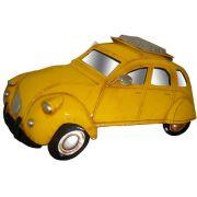 Quadro Carro Fusca 3d Em Metal Espelhado Para Parede Deco Vintage Retro Amarelo (ENFT-6 Amarelo)