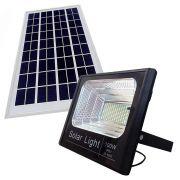 Refletor 100w Controle Remoto Holofote Energia Solar Sensor Led Iluminacao