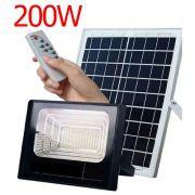 Refletor 200w Energia Solar Luminária bateria Sensor Controle Remoto Holofote Led Iluminacao kit com 2 unidades