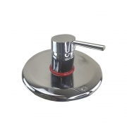 Registro Monocomando Misturador Chuveiro Banheiro Cromado Base Redondo Banheira