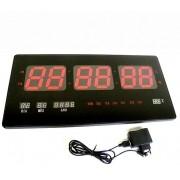 Relogio de Parede Digital Led Alarme Data Calendario Termometro (BSL-REL-54)
