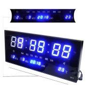 3d561095567 Relogio Digital com Alarme e Led Verde Data Com Term (BSL-REL-58. Relogio  De Parede Som Termo Temperatura De Led Azul Digital (rel-56)