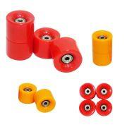 Rodas de Skate Kit 4 Rolamento Completo Abec 7 Silicone