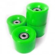 Rodas de Skate Kit 4 Rolamentos Completo Abec 7 Esportes Silicone