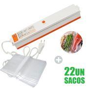 Seladora Vacuo Eletrica Termica 110v Ou 220v 22 Embalagem Sacos