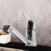 Torneira Banheiro Inox Cromado Lavatorio Restaurante Hotel Bica