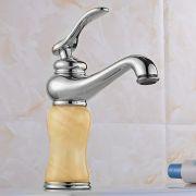 Torneira Vintage Marmore Cromada Agua Fria Quente Bancada Luxo Monocomando