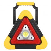 Triangulo Sinalizador Veicular Alerta Recarregavel Acampamento Solar Emergencia LED