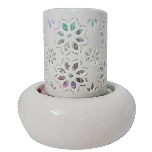 Fonte De Agua Decorativa Cascata Luz Led Ceramica Vidro Decoração (FT-E)