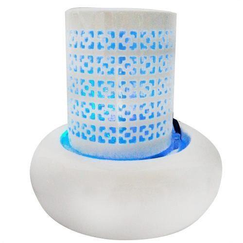 Fonte De Agua Decorativa Cascata Luz Led Ceramica Vidro Decoração (FT-E / Modelo A)