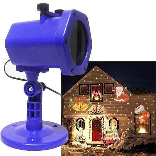 Projetor Led Natalino Holografico Casa Festa Natal Jardim (RC555)