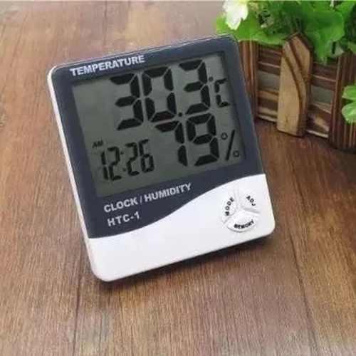 Higrometro Termo Relogio Digital Medidor De Mesa Temperatura (56192)