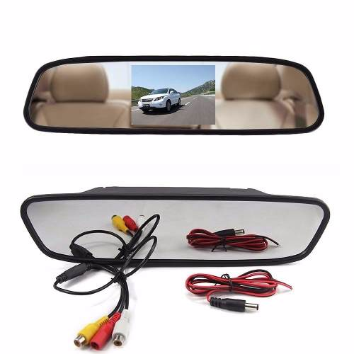 Espelho Retrovisor Lcd 4.3 Pol Para Camera Carro Veiculo (BSL-CAR-6)
