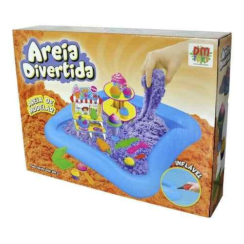 Areia Magica Massinha Sorveteria 600g 10 Moldes Brinquedo