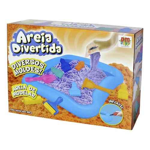Massinha Magica Areia Castelo 10 Moldes 600g Brinquedo