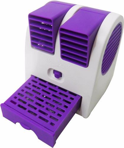 Mini Ventilador USB Portatil Com Aroma Climatizador Com Agua ROXO (HB-168 Roxo)