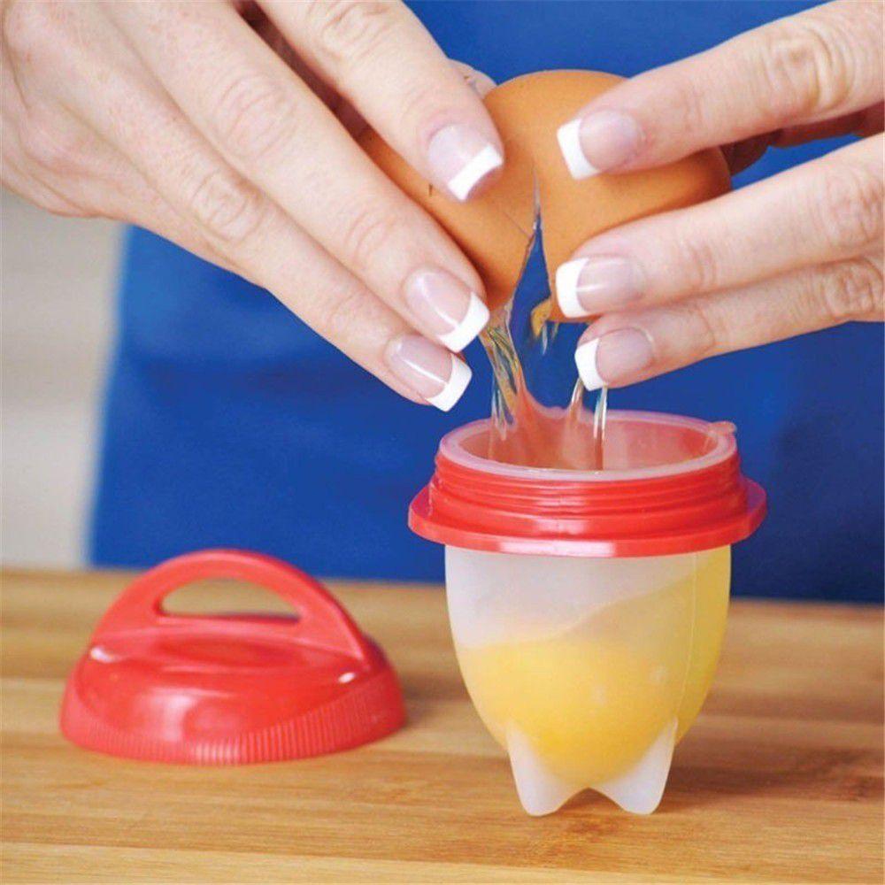 6 Copos Silicone Egglettes Cooking Ovo Fogão Cozinha Fácil Duro Copo Ovos
