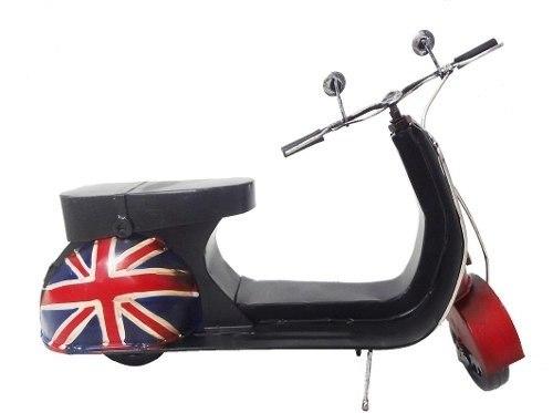 Moto Londres Modelo Vespa Vintage Retro De Metal Fundido (CJ-017)