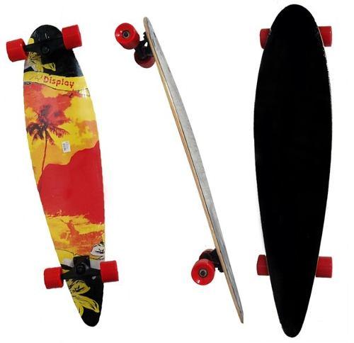 Longboard Skate Abec 9 Rolamento Shape Rodas Completo Radical Modelo A (SKT-9)
