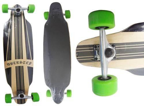Long Board Skate Abec Rolamento Shape Rodas Verde (SKT-10)