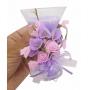 Vela de Parafina Enfeite Media Larga Eventos Flor Lilas kit 40 velas